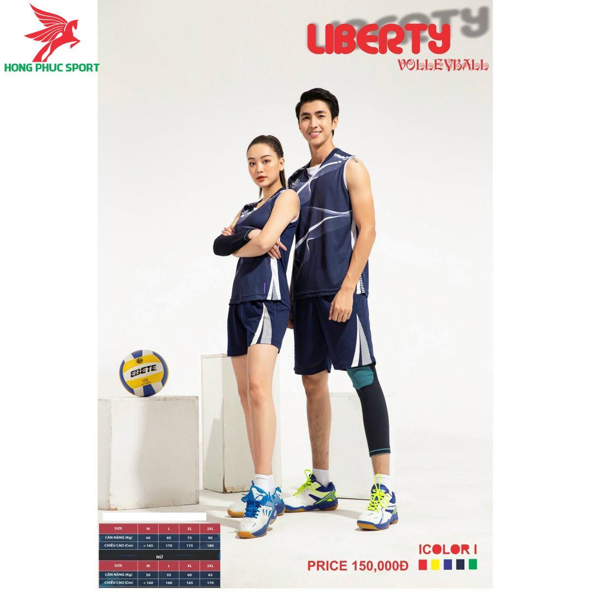 Áo thi đấu bóng chuyền OverateLiberty 2021 màu Xanh dương
