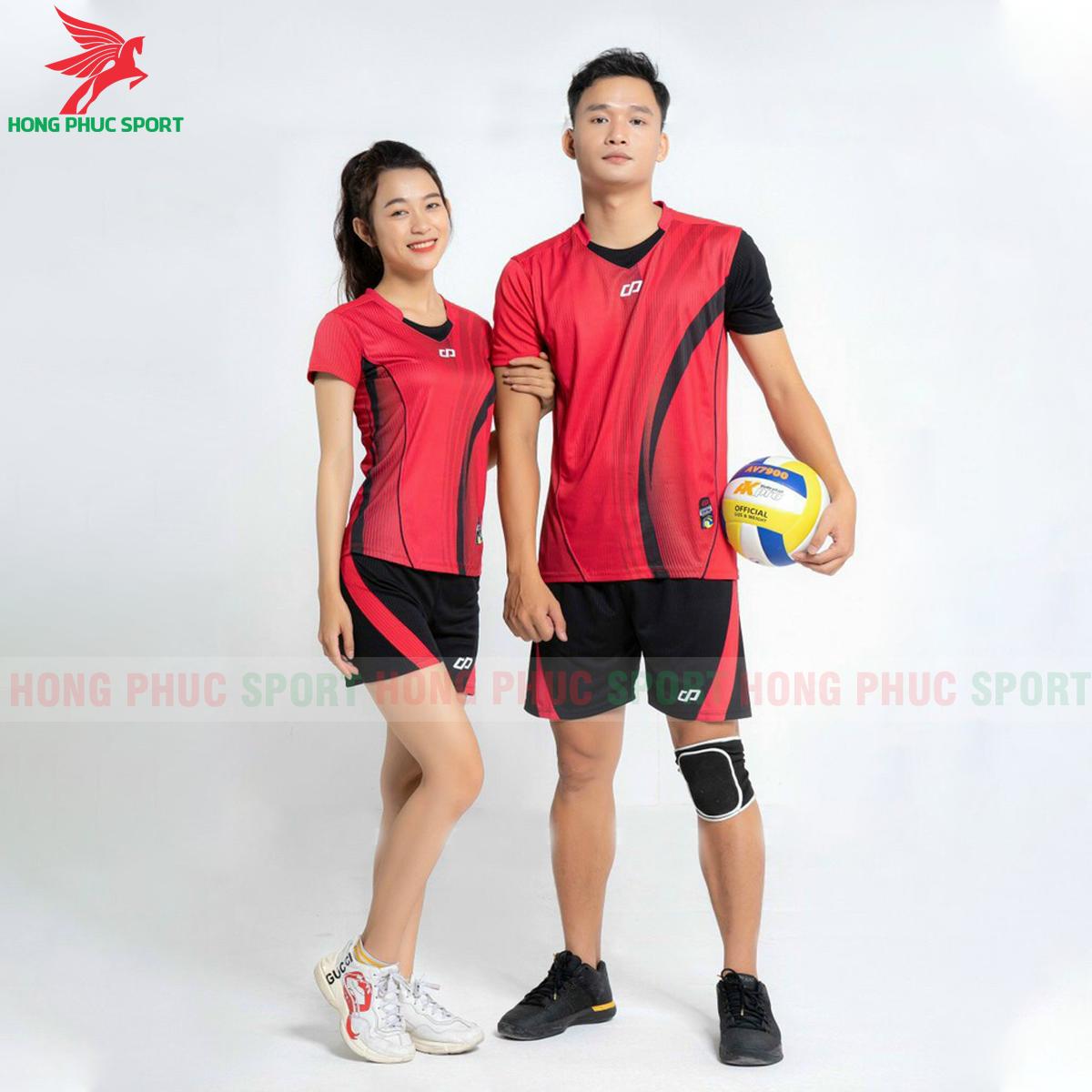 Quần áo bóng chuyềnCP Zentiga màu Đỏ