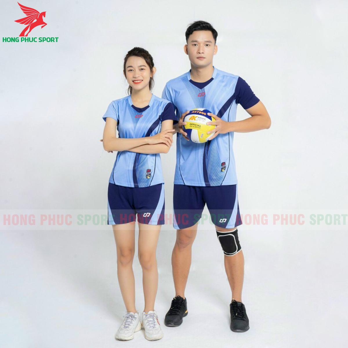 Quần áo bóng chuyềnCP Zentiga màu Xanh biển