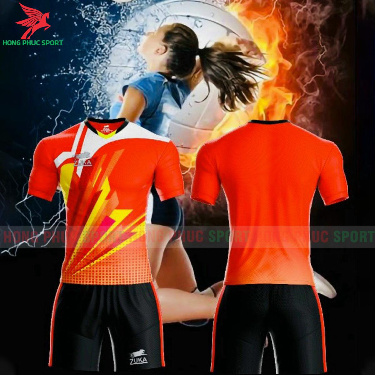 Quần áo bóng chuyền Zuka - 01 2021màu đỏ