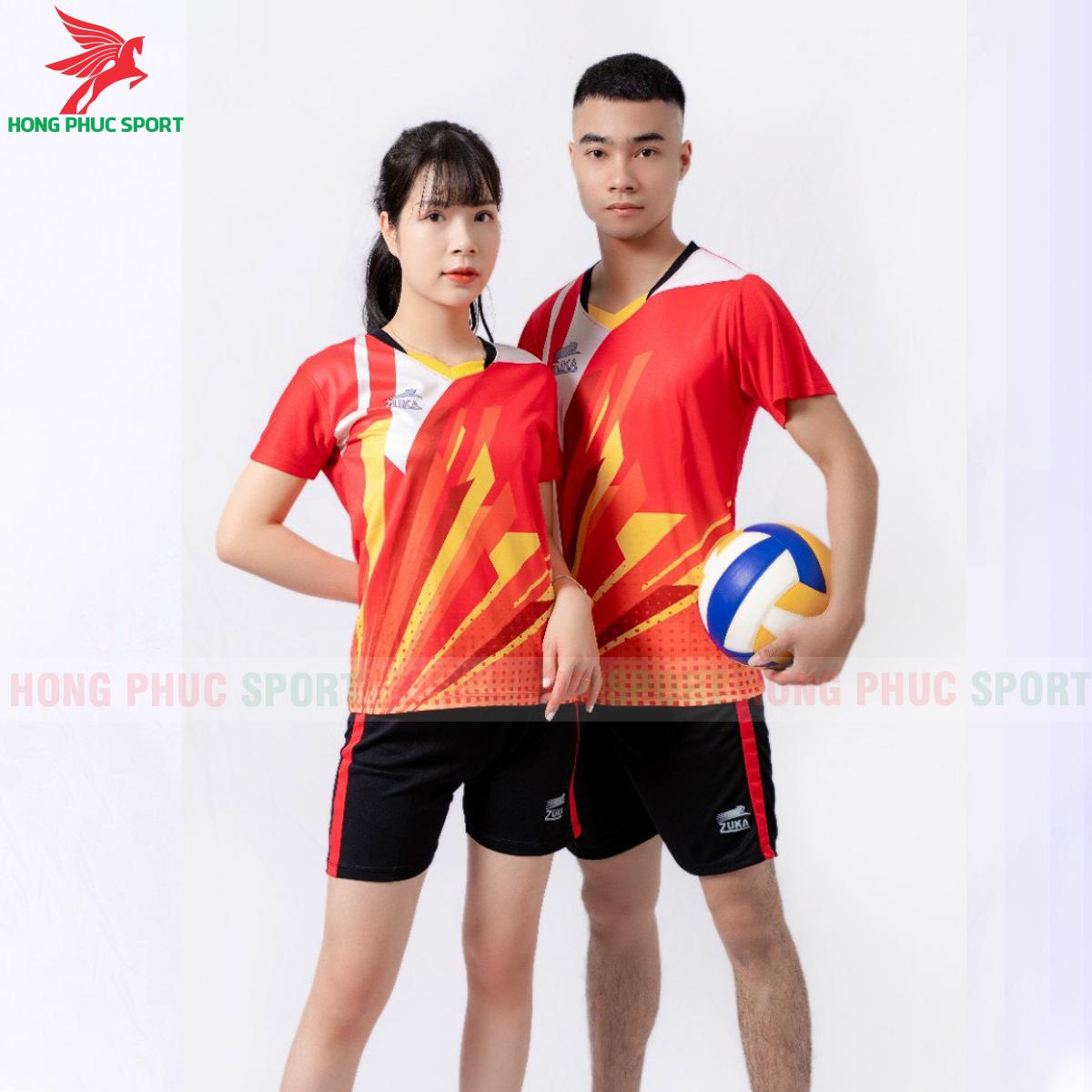 Quần áo bóng chuyền Zuka - 01 2021màu đỏ (1)