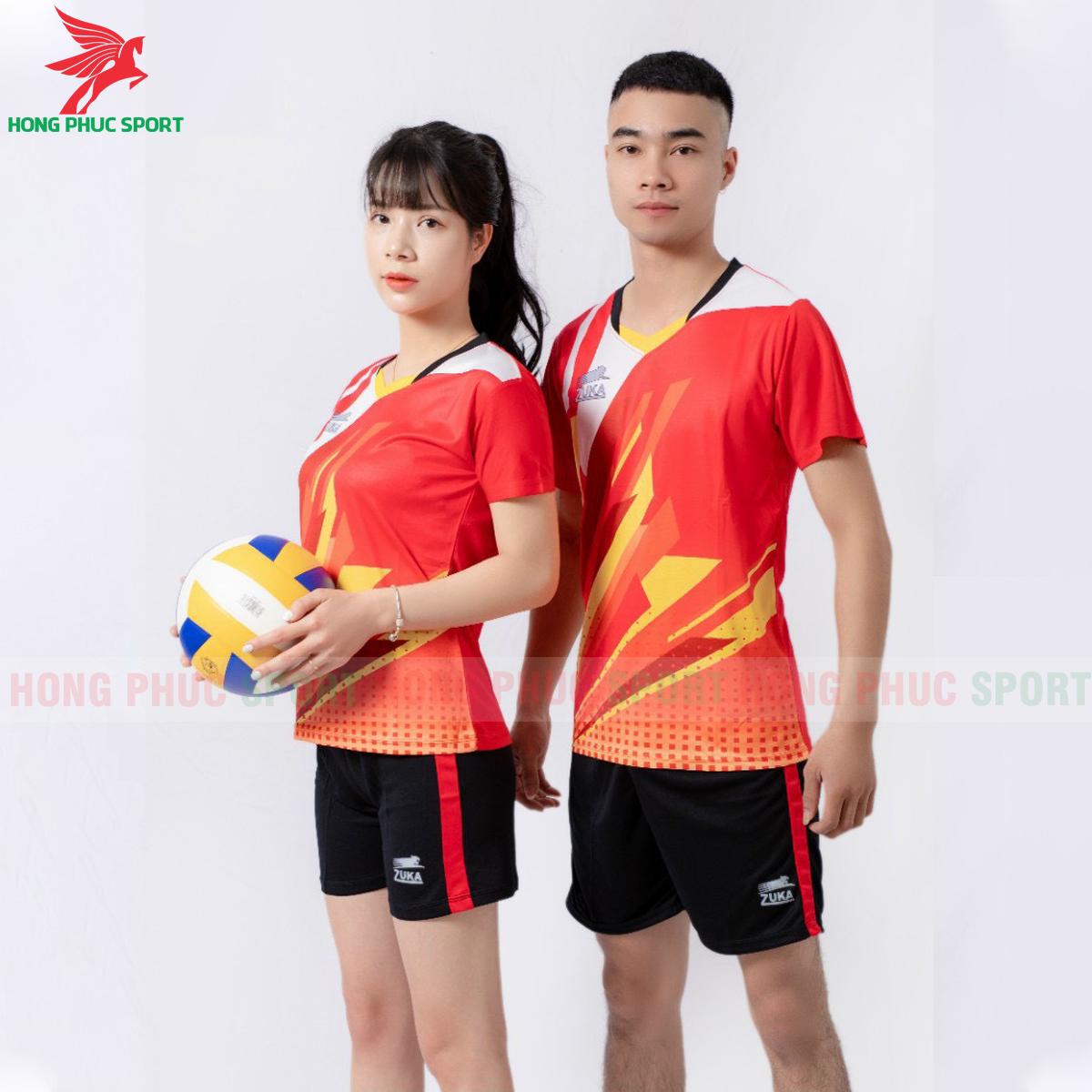Quần áo bóng chuyền Zuka - 01 2021màu đỏ (2)