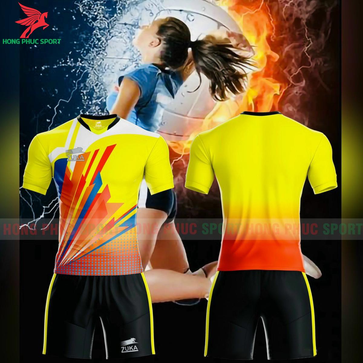 Quần áo bóng chuyền Zuka - 01 2021màu vàng