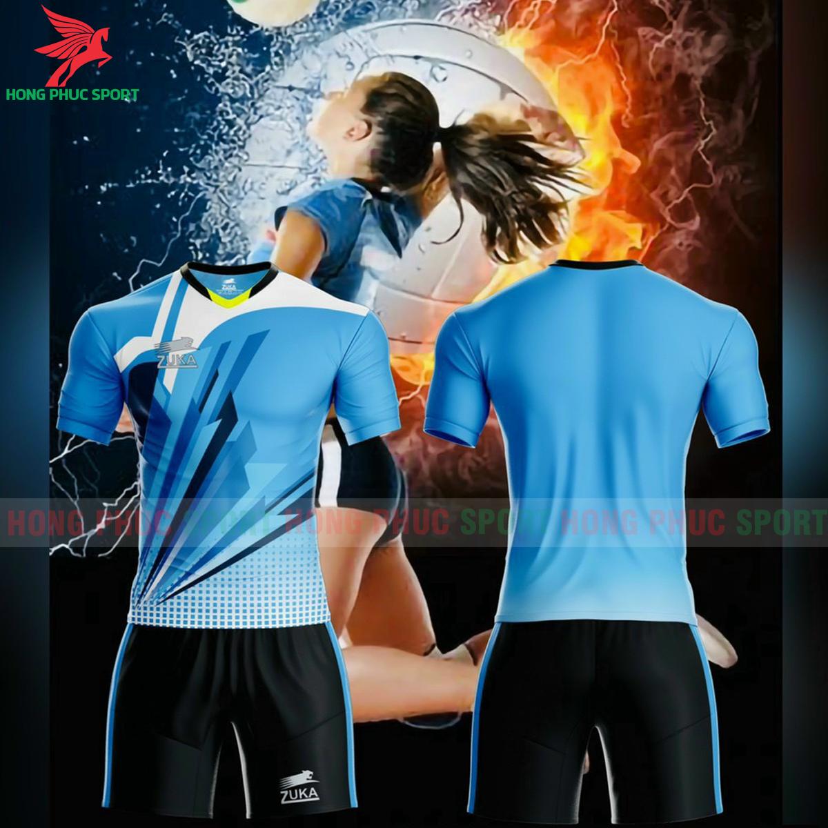 Quần áo bóng chuyền Zuka - 01 2021màu xanh dương