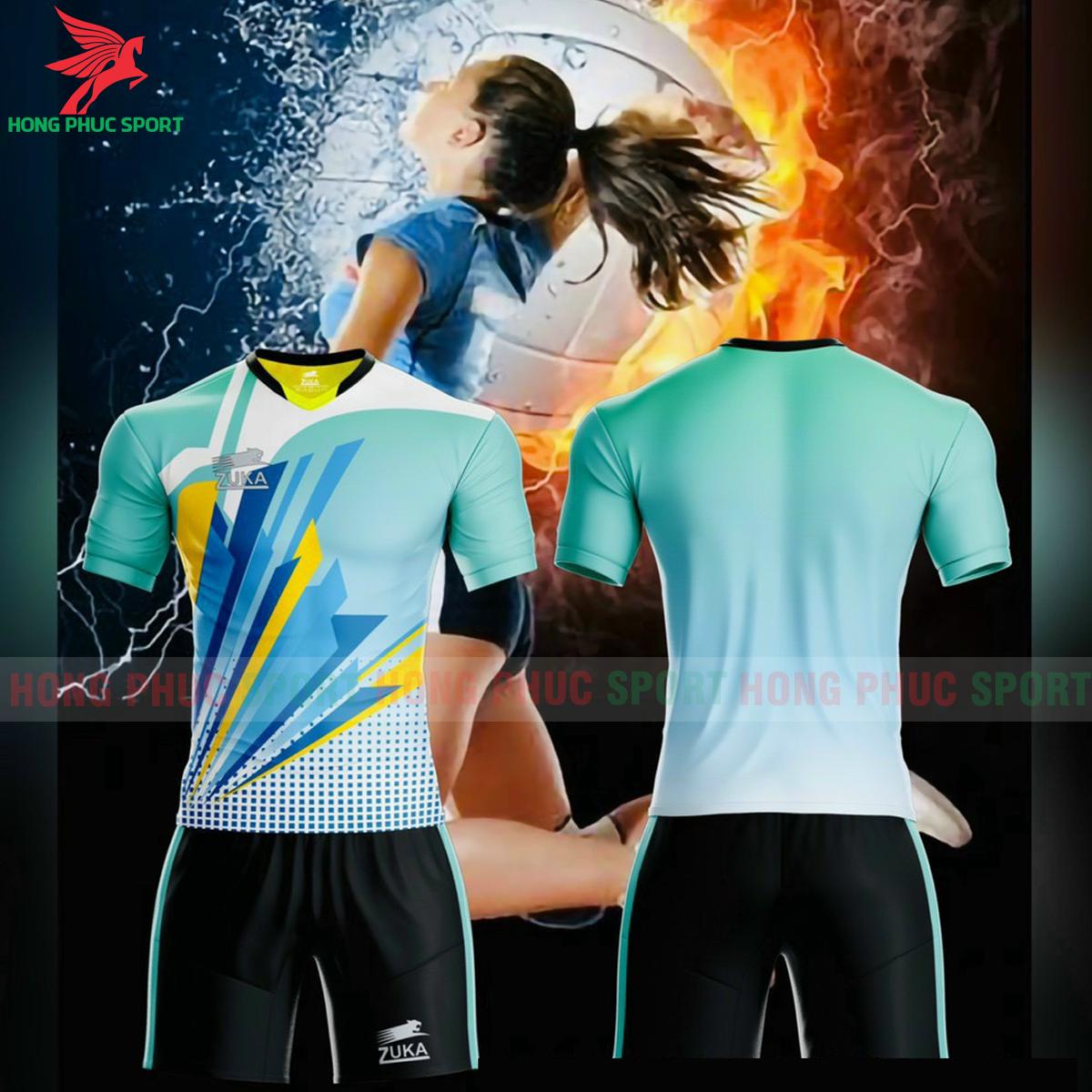 Quần áo bóng chuyền Zuka - 01 2021màu xanh ngọc