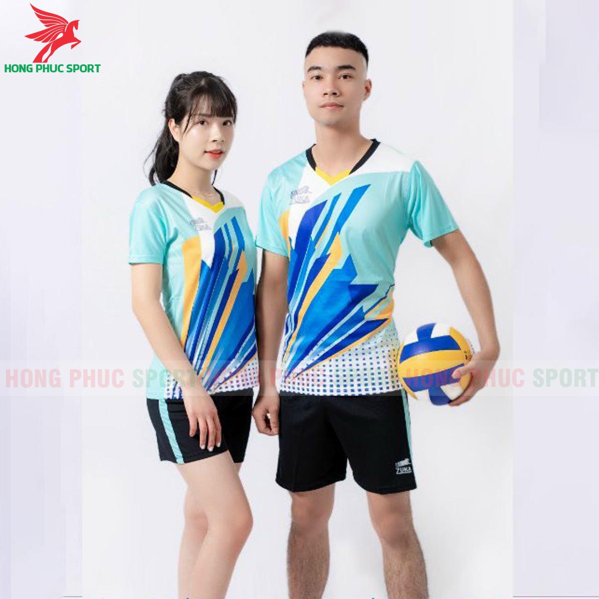 Quần áo bóng chuyền Zuka - 01 2021màu xanh ngọc (1)