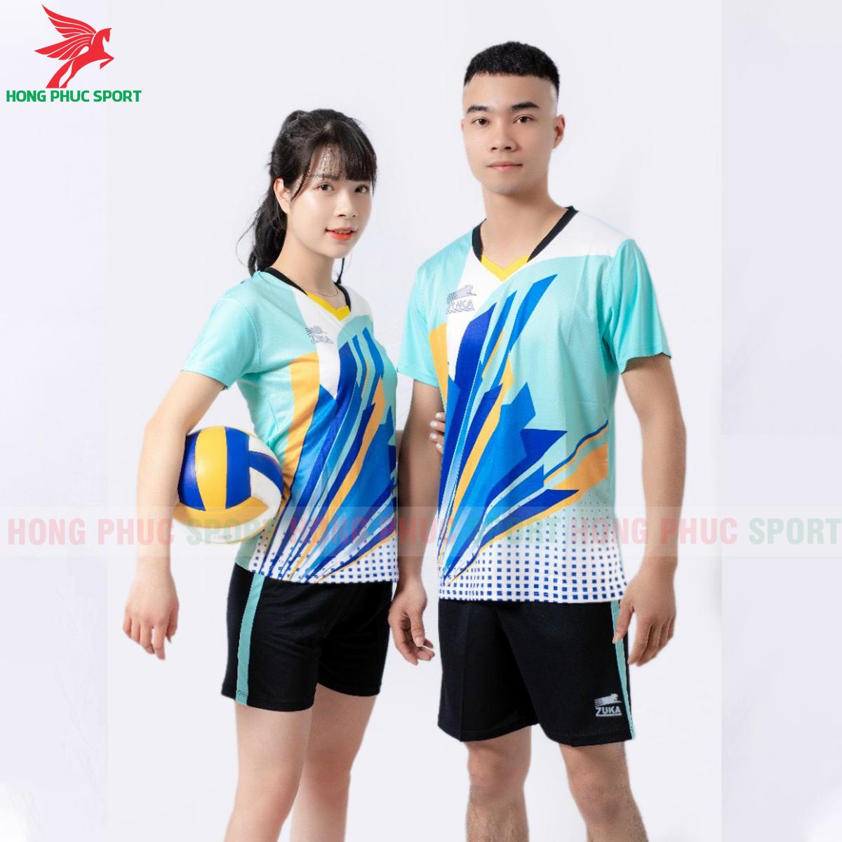 Quần áo bóng chuyền Zuka - 01 2021màu xanh ngọc (2)