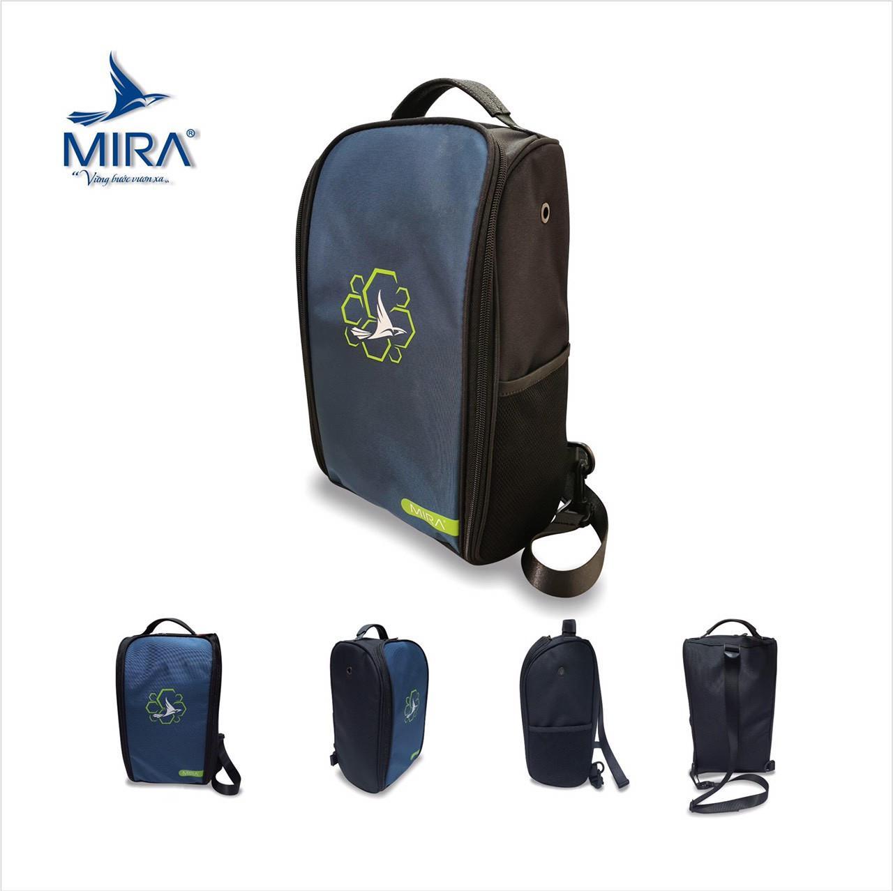 Túi đeo chéo thể thao Mira cao cấp màu xanh