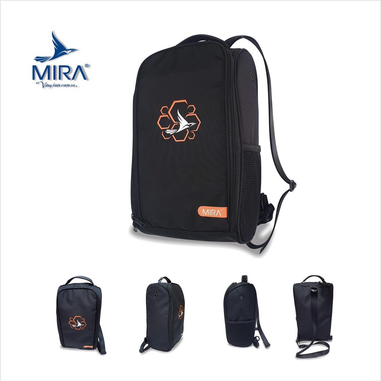 Túi đeo chéo thể thao Mira cao cấp màu đen