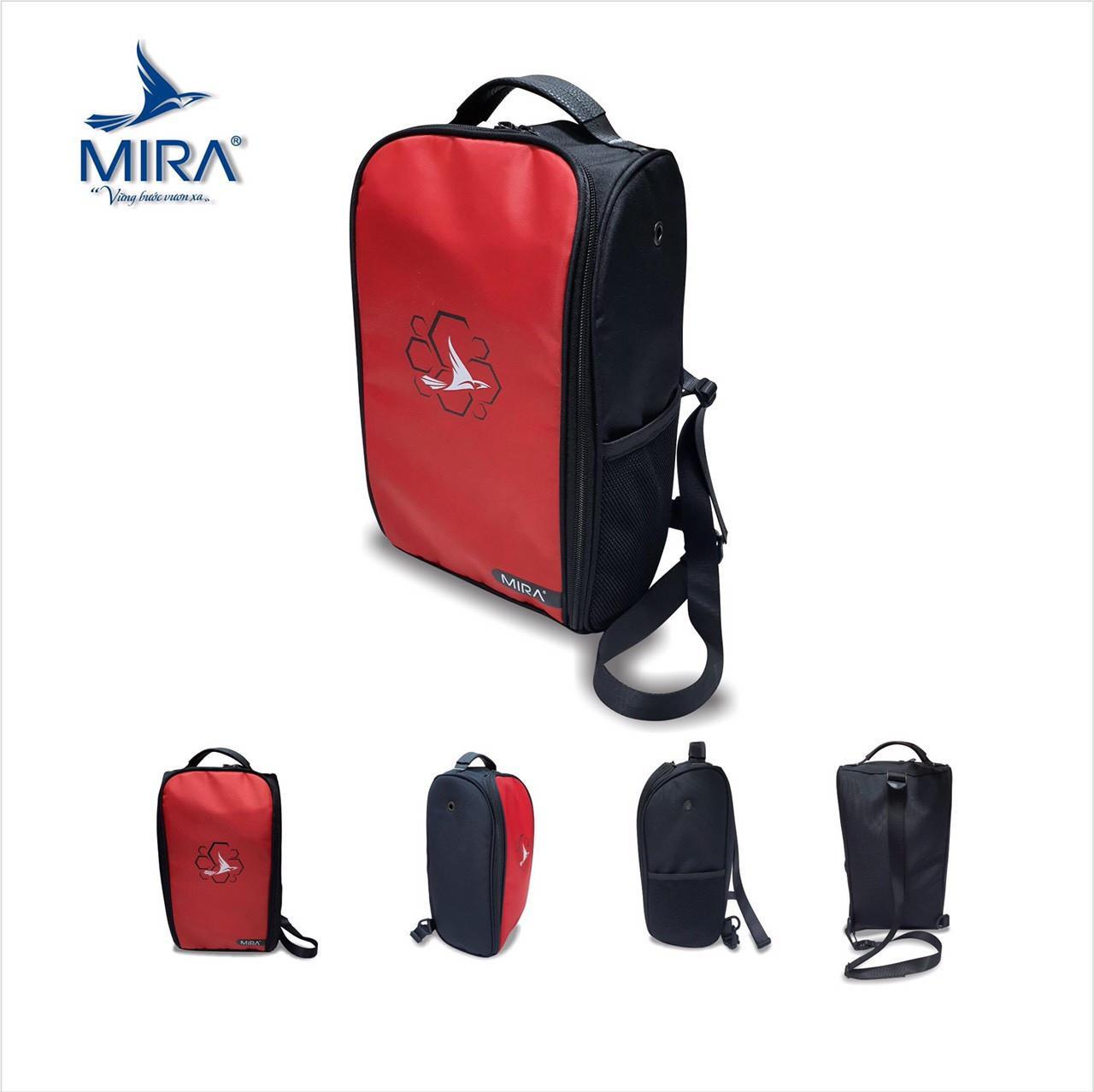 Túi đeo chéo thể thao Mira cao cấp màu đỏ