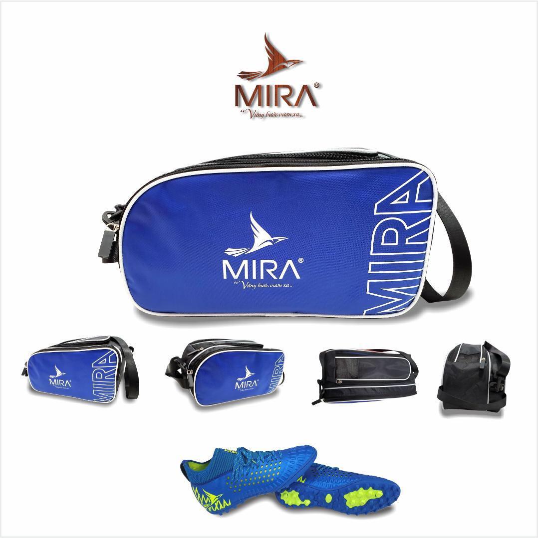 Túi đựng thể thao Mira 2 ngăn màu xanh