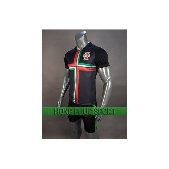 Đồ đá banh áo Bồ Đào Nha World Cup 2018 mầu đen