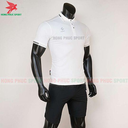 Quần áo di chuyển bóng đá Polo UV Egan trắng