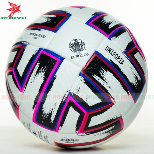 QUẢ BÓNG ĐÁ UEFA EURO 2020 MẪU 3 MÀU TRẮNG HỒNG TẶNG KIM BƠM