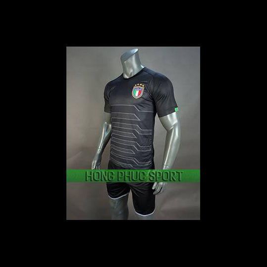 Đồ đá banh áo thủ môn tuyển Italia 2018 2019 mầu đen
