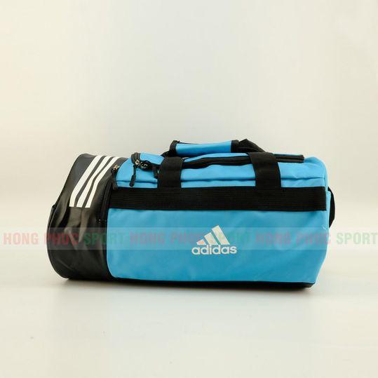 Túi trống thể thao Adidas có ngăn đựng giày màu xanh da trời