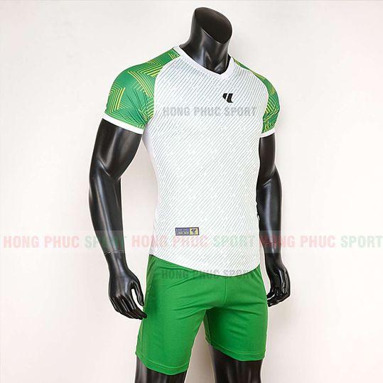 Áo bóng đá không logo Lidas Wariors 2020 trắng xanh lá
