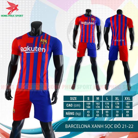ÁO ĐẤU BARCELONA 2021 2022 SÂN NHÀ - THUN LẠNH CAO CẤP