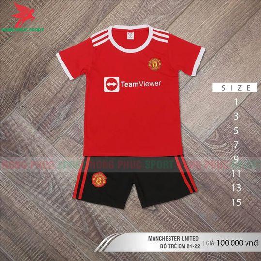 Áo đấu trẻ em Manchester United 2021 2022 sân nhà