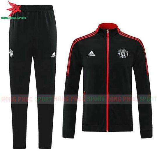 Bộ áo khoác Manchester United 2021-2022 màu đen super fake Thái Lan