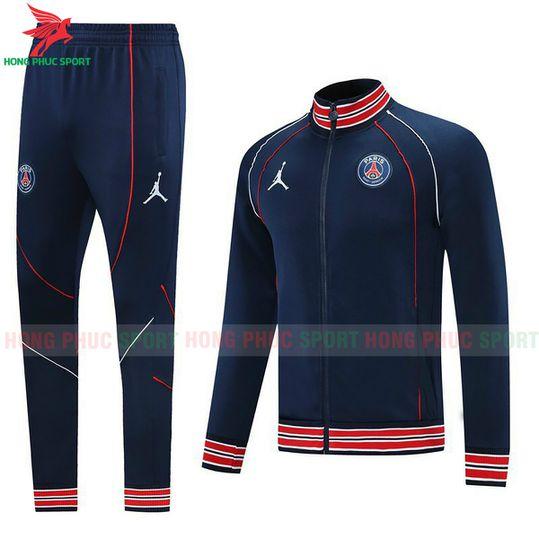 Bộ áo khoác PSG 2021-2022 màu xanh đen super fake Thái Lan