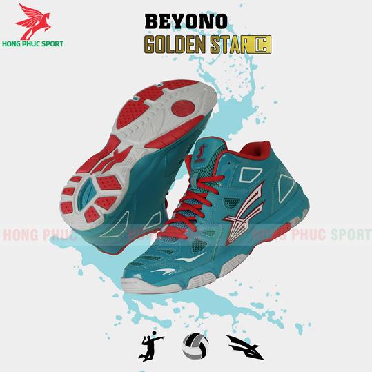 GIÀY THI ĐẤU BÓNG CHUYỀN BEYONO GOLDEN STAR C2020 NAM/NỮMẪU 3MÀU XANH NGỌC