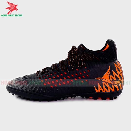Giày đá bóng cổ cao Mira Lux 19.2 đen cam sân cỏ nhân tạo
